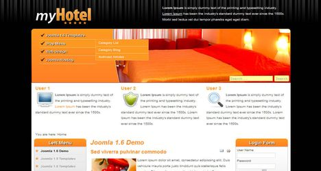 joomla hotel template - joomla templates scripts well